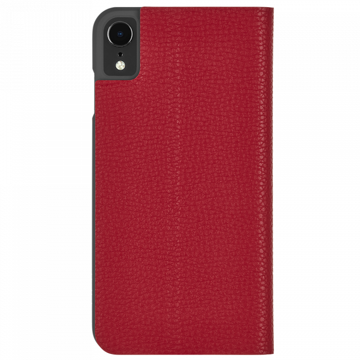 "Case-Mate Barely There Minimalist Folio Leather Wallet Case for iPhone XR (6.1"") - Cardinal - Gearlyst"