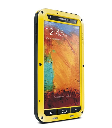 LOVE MEI Galaxy NOTE 3 ShockProof Heavy Duty Metal Case with Gorilla Glass Screen - Yellow - Gearlyst