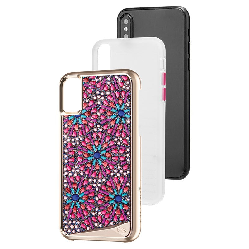 Case-Mate Brilliance Genuine Crystals Case for iPhone XS/X - Brooch - Gearlyst