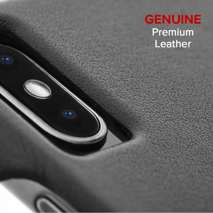 "Case-Mate Barely There Leather Minimalist Case for iPhone Xs Max (6.5"") - Black - Gearlyst"