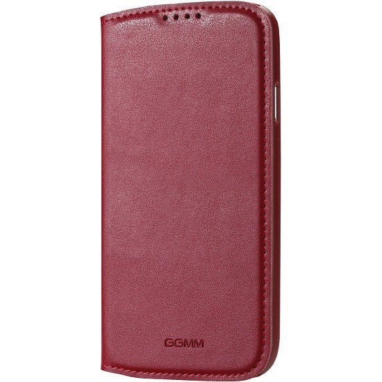 GGMM Kiss Series Real Leather Case for Samsung Galaxy S4 - Red - Gearlyst