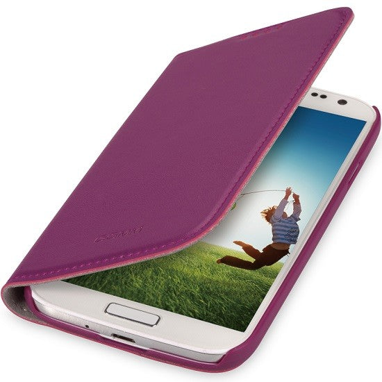 GGMM Kiss Samsung Galaxy S4 Real Leather Case - Purple - Gearlyst