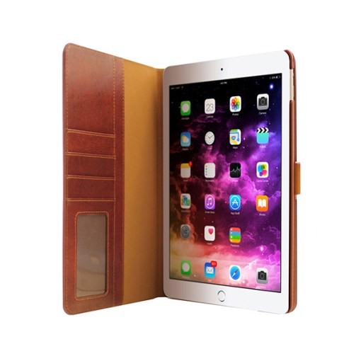 3SIXT Premium Leather Folio Cover for iPad Air 2 - Brown - Gearlyst