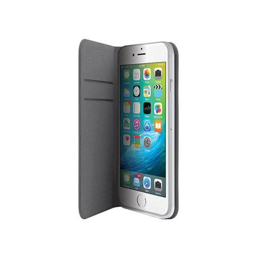 3SIXT SlimFolio Slim Kickstand Case for iPhone 6 Plus/6S Plus- Grey - Gearlyst