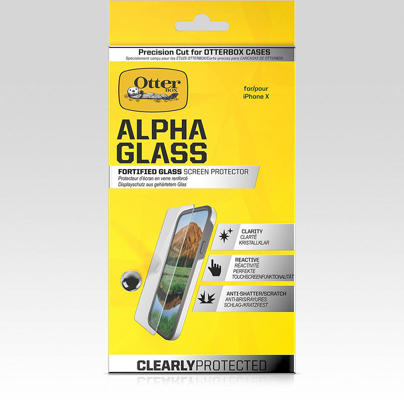 OtterBox Clearly Protected Alpha Glass Screen Protector for iPhone XS/X