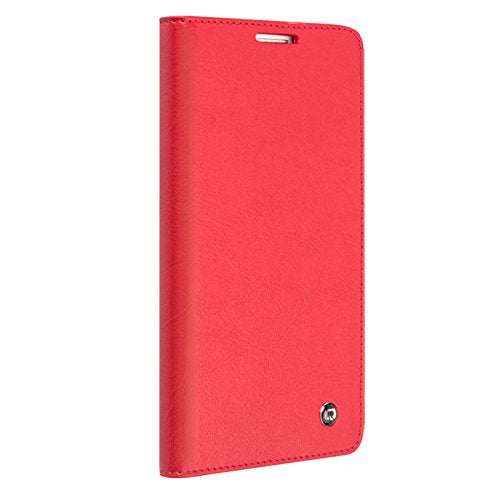 QIALINO Samsung Galaxy NOTE 4 Premium Leather Wallet Cover - Red - Gearlyst