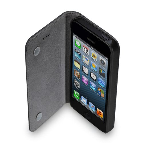GGMM Kiss Genuine Leather Case for iPhone 5/5s - Black - Gearlyst