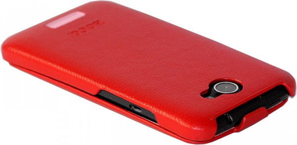 HOCO Duke Flip Real Leather Case for HTC One X - Red - Gearlyst