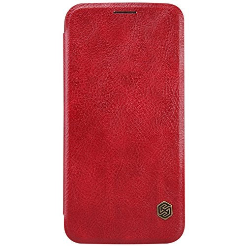 Nillkin QIN Samsung Galaxy S6 Slim Leather Case with Card Pocket - Red - Gearlyst
