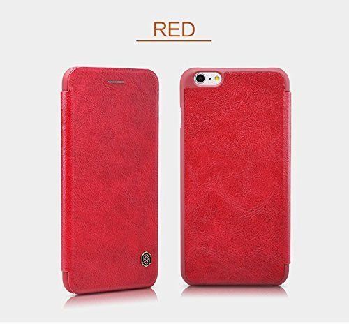Nillkin QIN iPhone 6 / 6s Slim Leather Wallet Cover - Red - Gearlyst