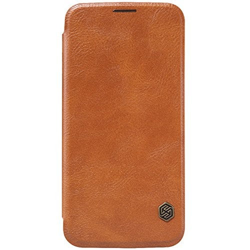 Nillkin QIN Samsung Galaxy S6 Slim Leather Case with Card Slot - Brown - Gearlyst