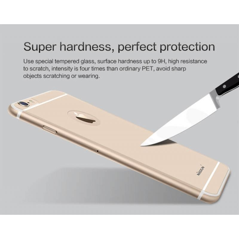 Nillkin Amazing H Back Cover Tempered Glass Protector for iPhone 6s/ 6 - Silver - Gearlyst