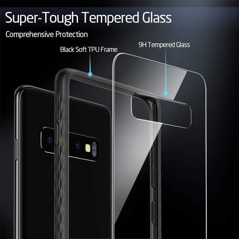 GEARLYST ESR Ultra Slim 9H Glass Case for Samsung Galaxy S10 Plus - Black - Gearlyst