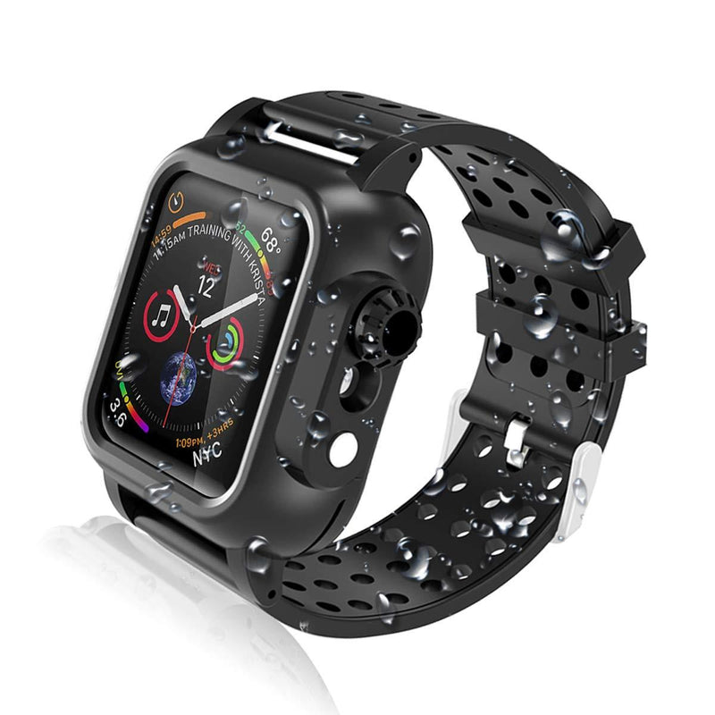 IPX5 WaterProof Rugged Case for Apple Watch 4th Gen 40mm DOTPRO - Black - Gearlyst