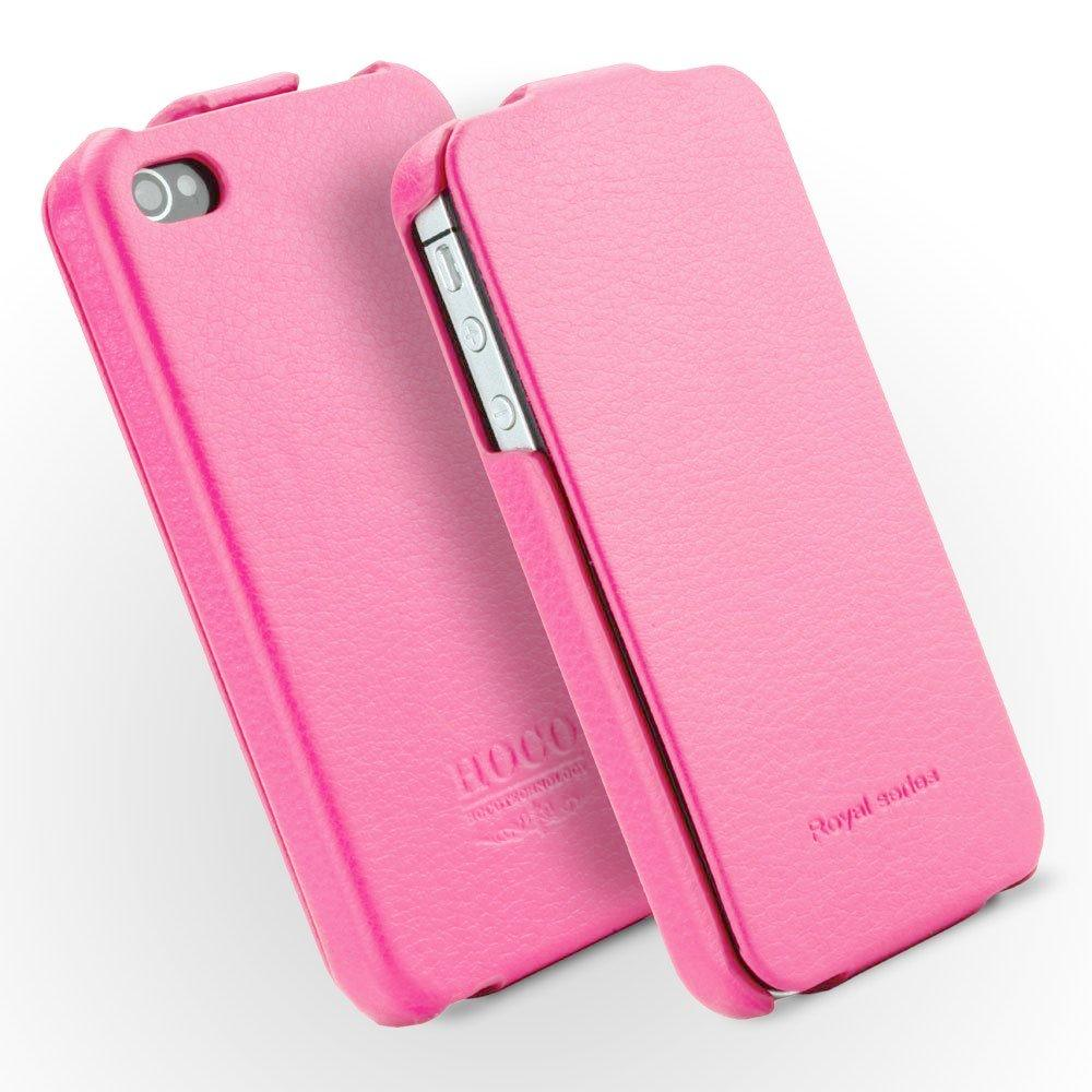 HOCO Duke Advanced Flip Leather Case for iPhone 4/4s - Light Pink - Gearlyst