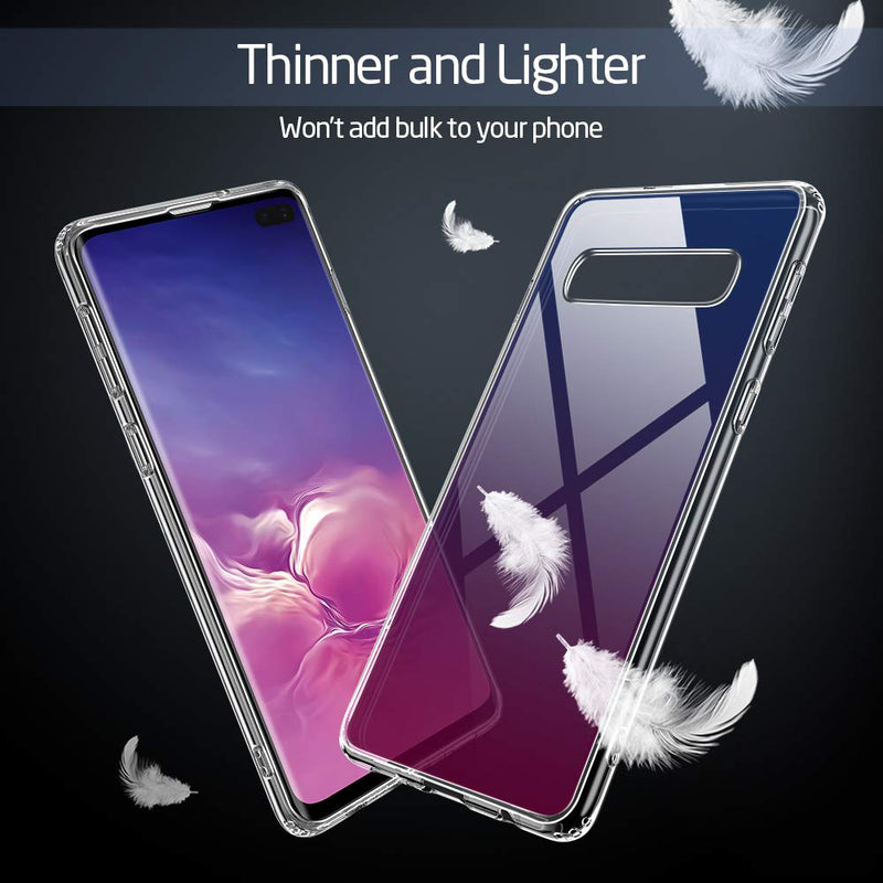 GEARLYST ESR Ultra Slim 9H Glass Back Cover for Samsung Galaxy S10  - Skyfire Gem - Gearlyst