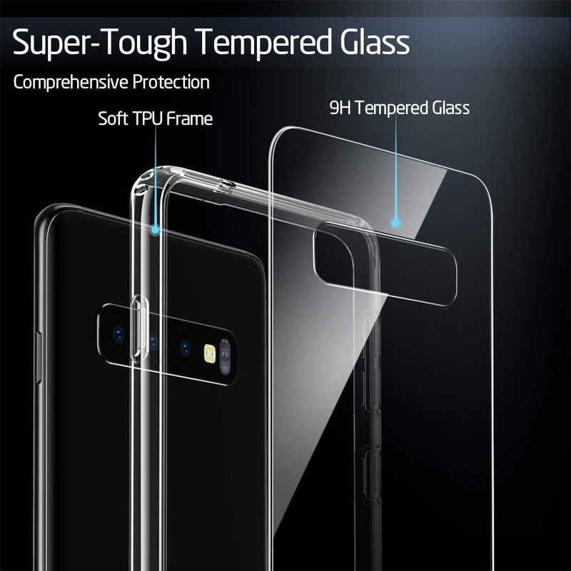 GEARLYST ESR Ultra Slim 9H Glass Back Cover for Samsung Galaxy S10  - Clear - Gearlyst