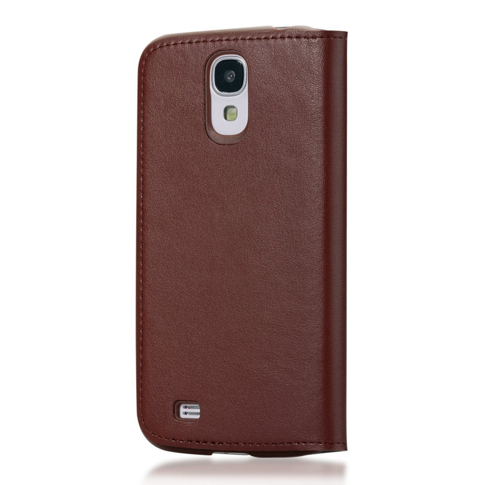 GGMM Kiss Series Real Leather Case for Samsung Galaxy S4 - Brown - Gearlyst