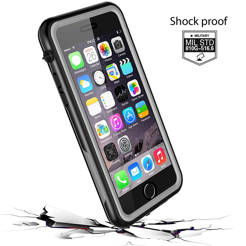 iPhone SE 2020/ iPhone 7/8 Waterproof Shockproof Rugged Case - Black/ Clear