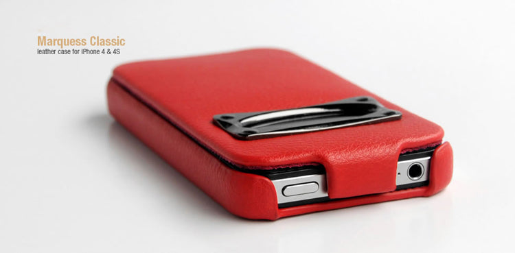 HOCO iPhone 4/4s Marquess Classic Flip Leather Case - Red - Gearlyst