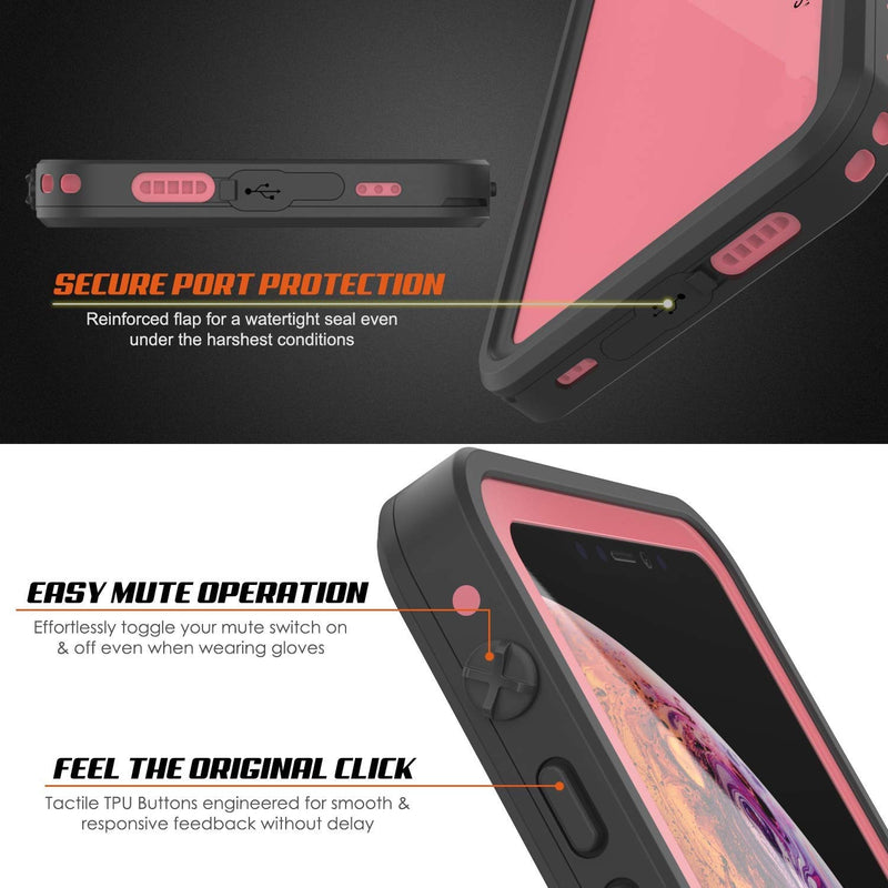 UDUN iPhone Xs Max Waterproof Shockproof Rugged Case  - Pink - Gearlyst