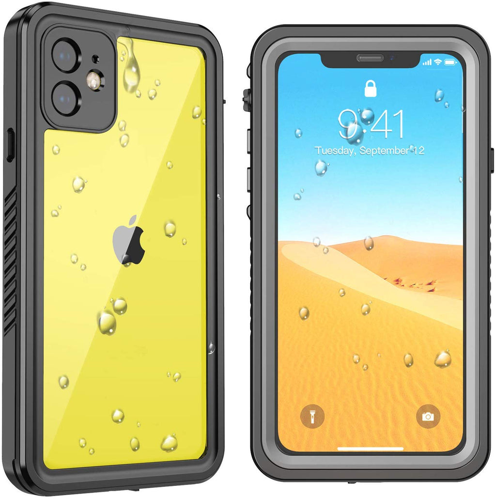 "SFPro Shockproof Drop-proof Waterproof Case for iPhone 11 6.1"" - Black/Clear"