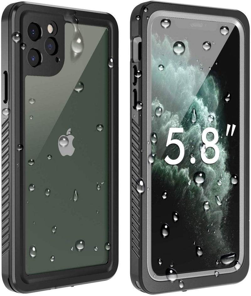 "SFPro Shock, Drop-proof Waterproof Case for iPhone 11 Pro Max 6.5"" - Black/Clear"