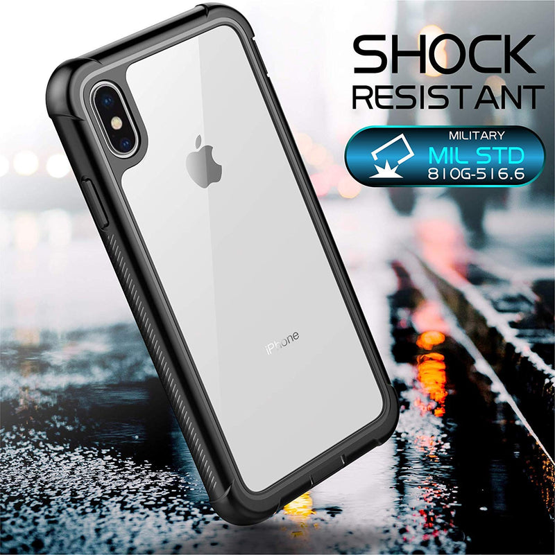 iPhone Xs/X Full-Body Rugged Slim Case with Built-in Screen Protector DOTPRO - Gearlyst