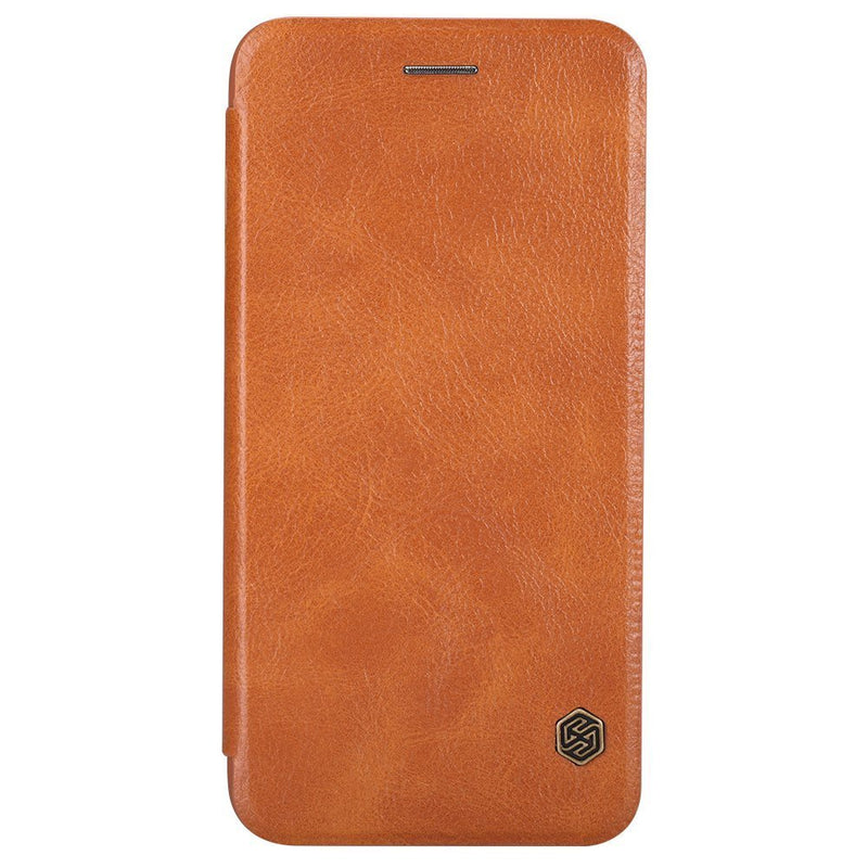 Nillkin QIN iPhone 6 Plus / 6s Plus Slim Leather Wallet Cover - Brown - Gearlyst