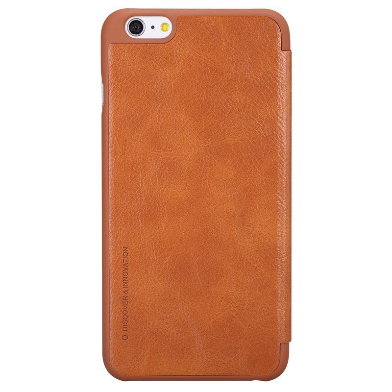 Nillkin QIN iPhone 6 / 6s Slim Leather Wallet Cover - Brown - Gearlyst