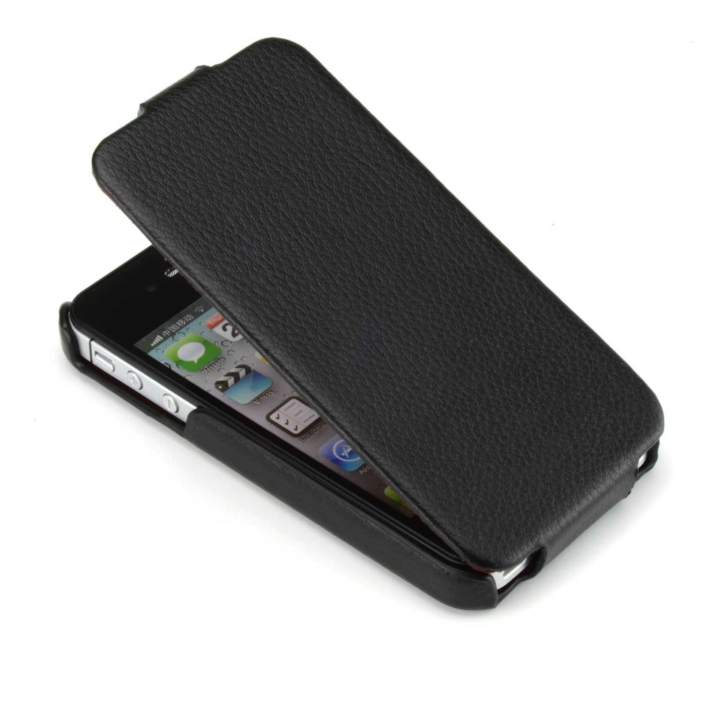 new style 3d94d 7c9af HOCO Duke Advanced Flip Leather Case for iPhone 4/4s - Black