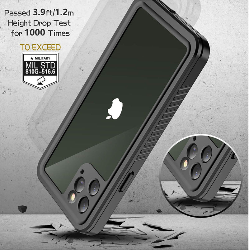 "SFPro Shock, Drop-proof Waterproof Case for iPhone 11 Pro Max 6.5"" - Black/Clear - Gearlyst"