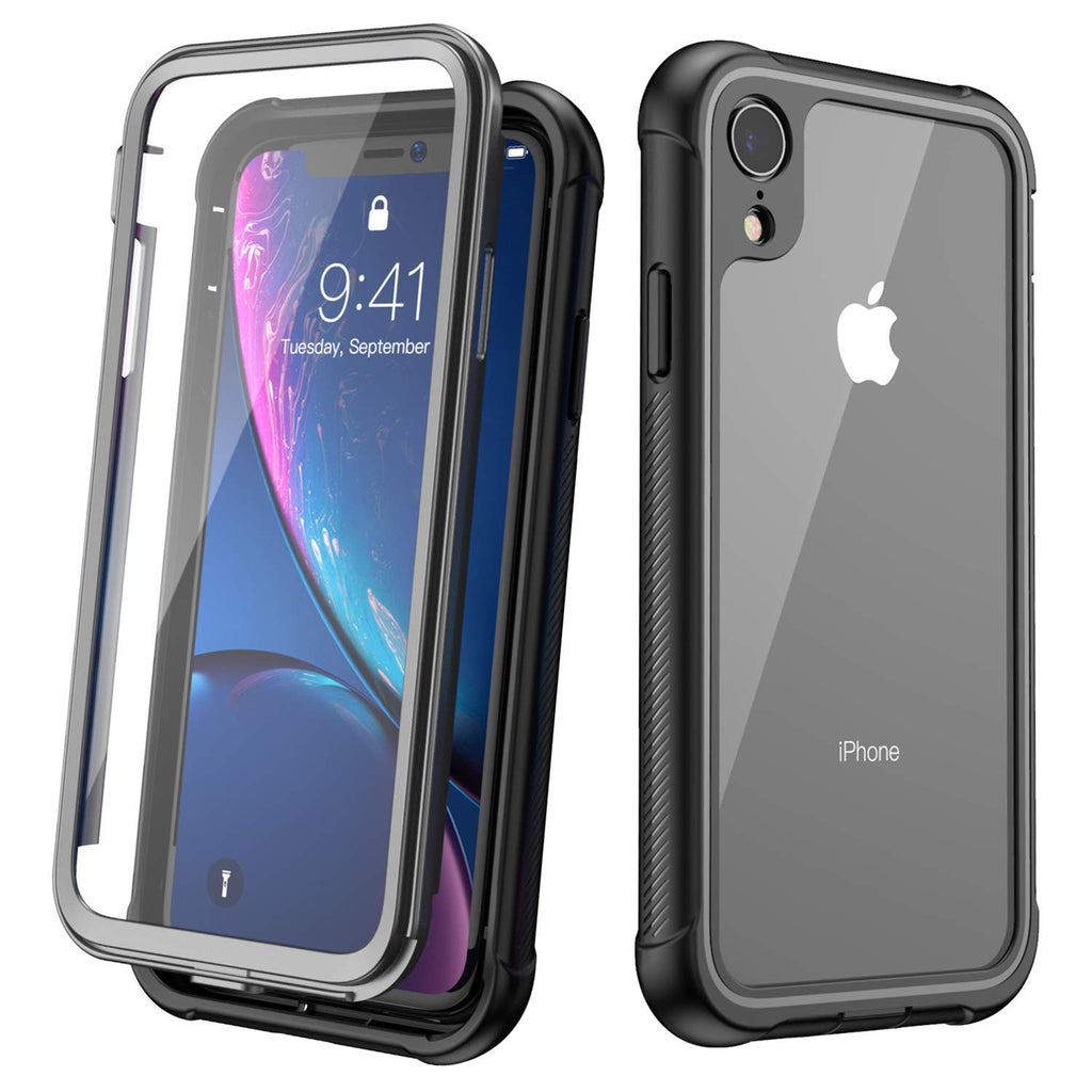 SMARTSO Rugged Full Body SLIM Case For iPhone XR with Built-in Screen Protector Case