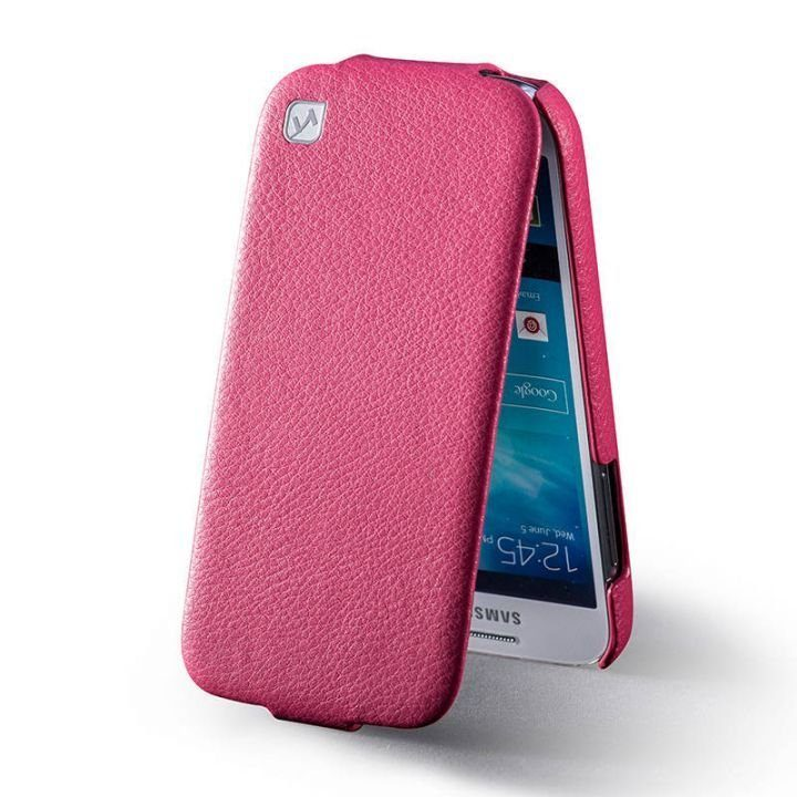 HOCO DUKE Premium Leather Flip Case for Samsung Galaxy S4 - Rose - Gearlyst