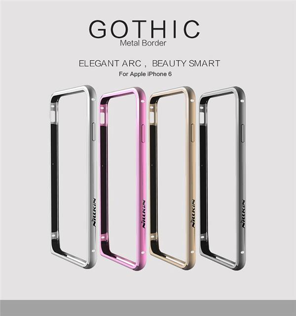 Nillkin Gothic Series Metal Bumper Frame Case for Apple iPhone 6 & 6s - Gearlyst
