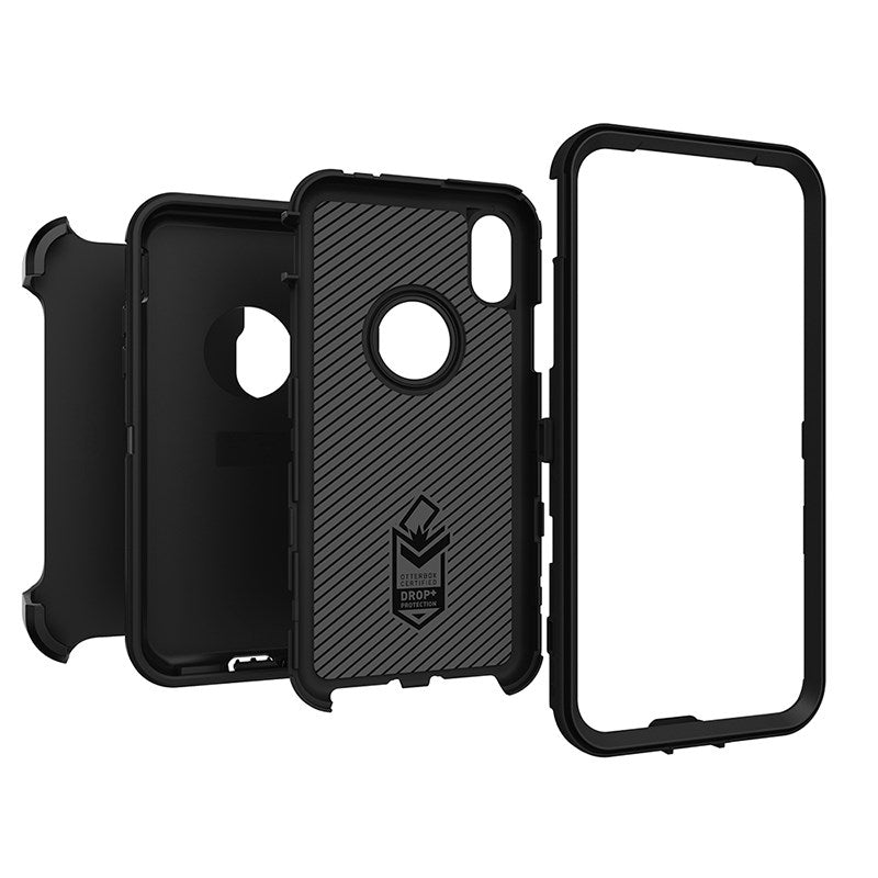 "GENUINE OtterBox Defender Case for Apple iPhone X Xs 5.8"" Black Screenless - Gearlyst"