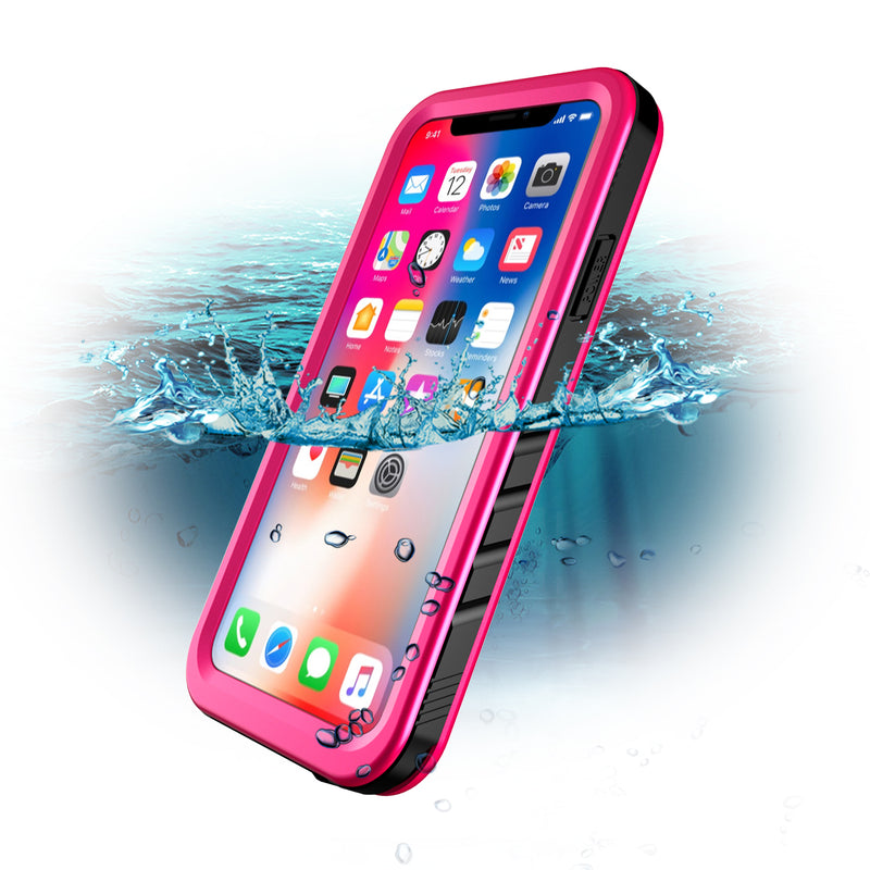 iPhone Xs/X WaterProof ShockProof Rugged Case DOTPRO - Pink - Gearlyst