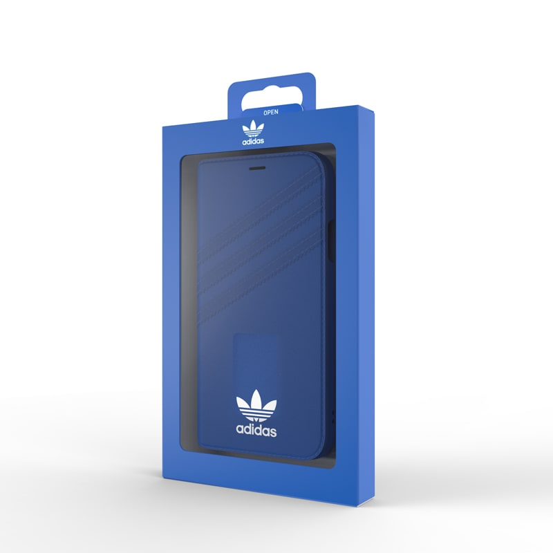 Adidas Originals Booklet Case For iPhone Xs/X (5.8) - Blue/White - Gearlyst