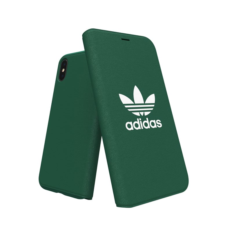 "Adidas Originals Adicolor Booklet Case for iPhone X/Xs (5.8"") - Collegiate Green - Gearlyst"