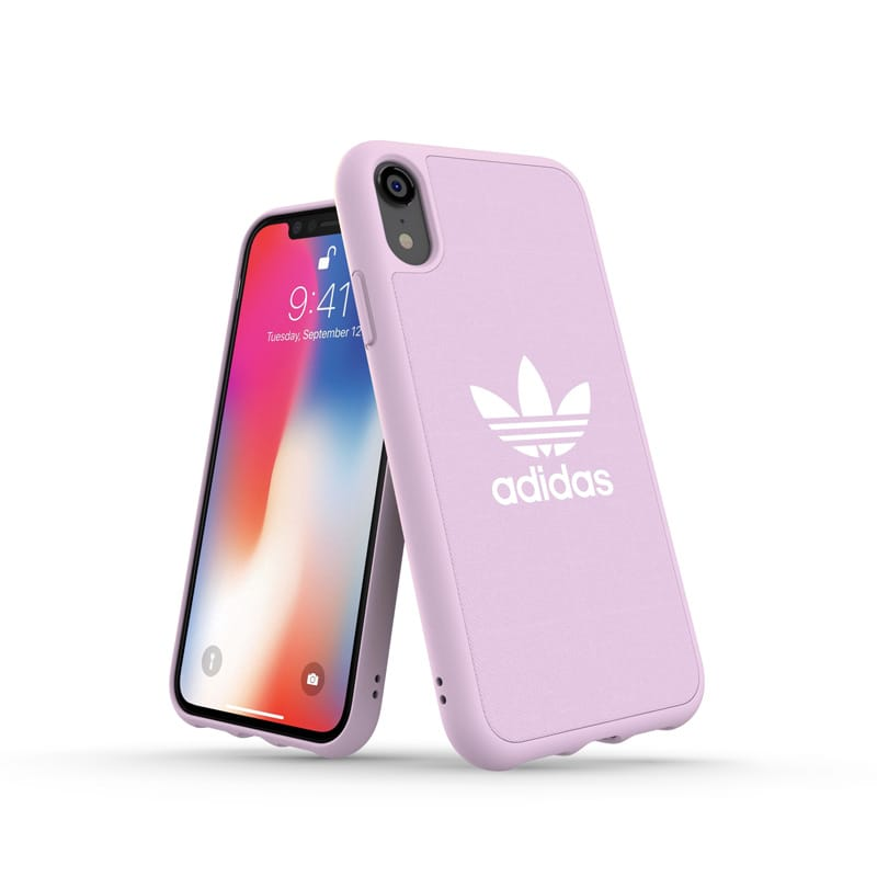 Adidas Originals Canvas Moulded Case-For iPhone XR (6.1) - Clear/Pink - Gearlyst