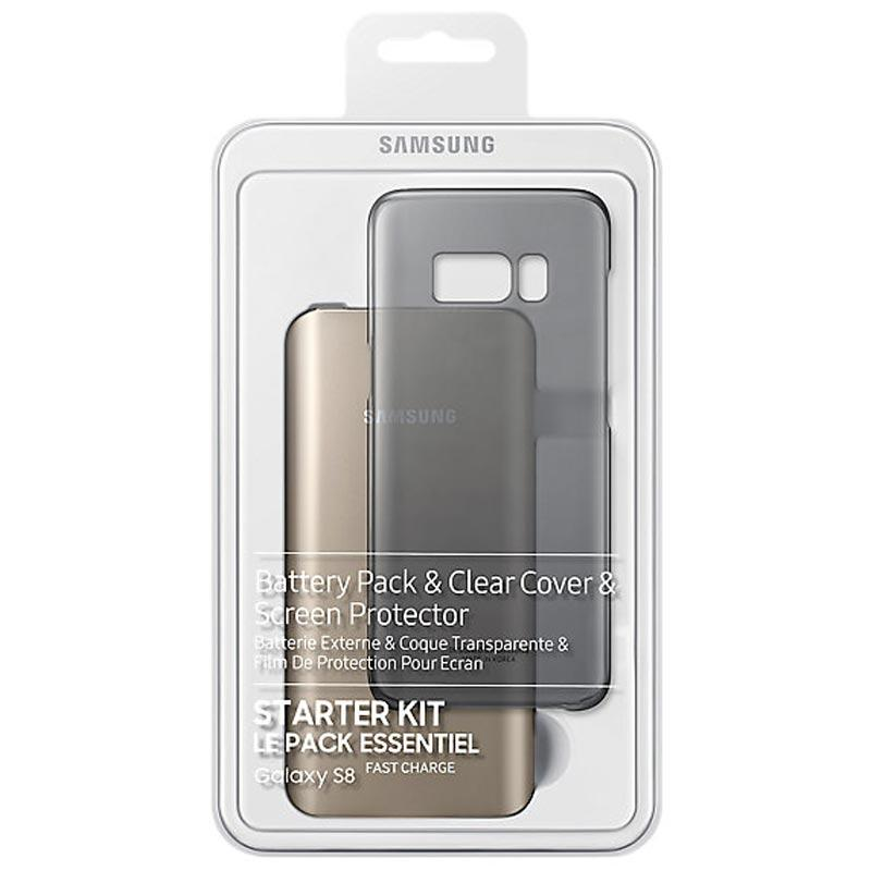 Original Samsung Galaxy S8 Starter Kit Pack Power Bank / Clear Case / Screen Protector - Gearlyst