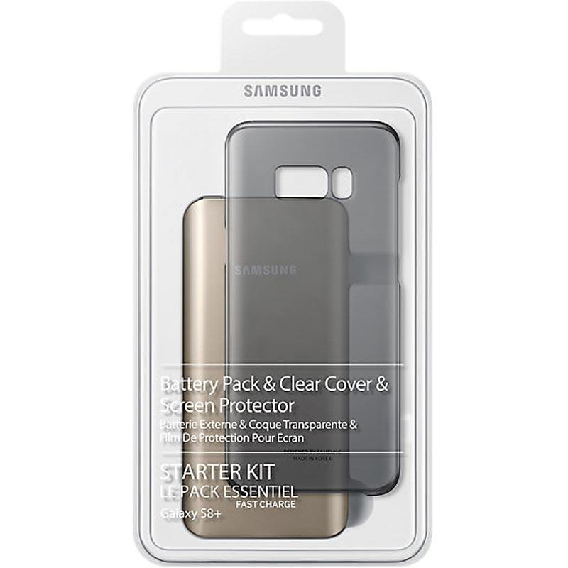 Original Samsung Galaxy S8+ Plus Starter Kit Pack Power Bank / Clear Case / Screen Protector - Gearlyst