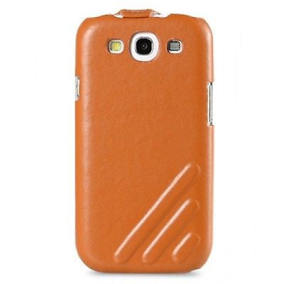 Melkco Samsung Galaxy S3 Jacka Craft Premium Leather Flip Case - Orange - Gearlyst