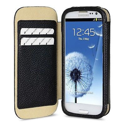 Melkco Samsung Galaxy S3 Premium Leather Wallet Case - Black - Gearlyst