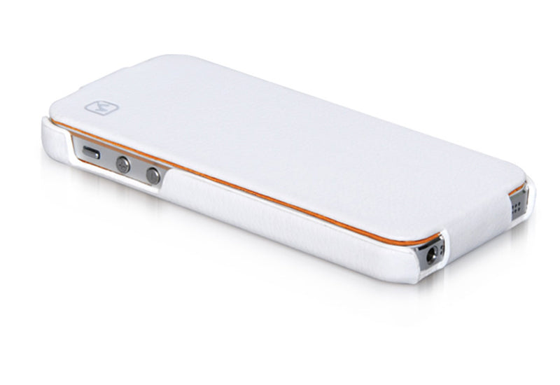 HOCO Duke Advanced Flip Leather Case for iPhone 4/4s - White - Gearlyst
