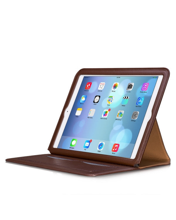 HOCO Portfolio Luxury Leather Case for iPad Air - Brown - Gearlyst