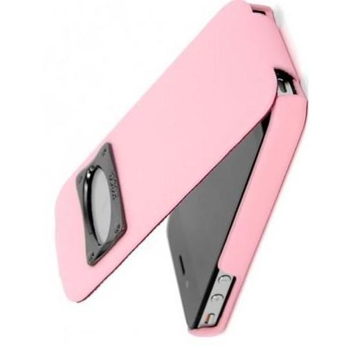 HOCO iPhone 4/4s Marquess Classic Flip Leather Case - Pink - Gearlyst