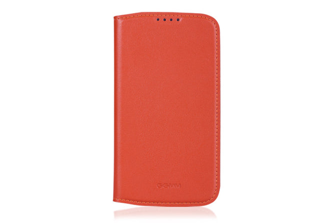 GGMM Kiss Series Real Leather Case for Samsung Galaxy S4 - Orange - Gearlyst