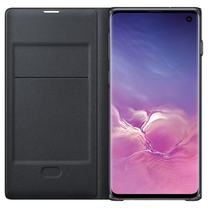 Samsung Galaxy S10 LED View Protective Cover Case - Black - Gearlyst