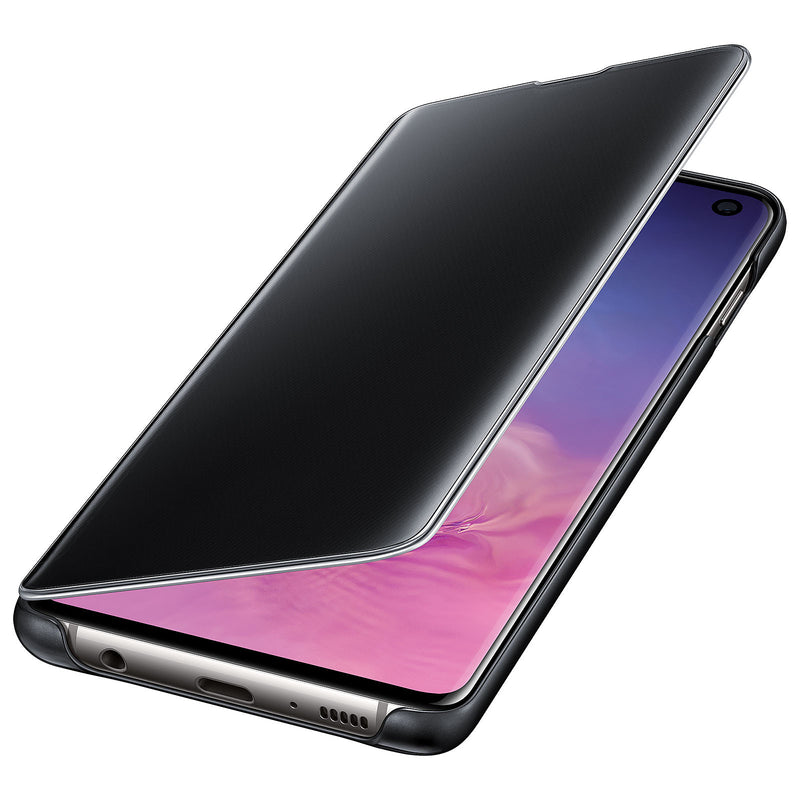 Samsung Galaxy S10 Clear View Protective Case Cover - Black - Gearlyst